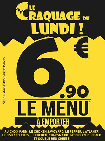 MON CRAQUAGE DU LUNDI - mon menu à 6.90€ au lieu de 10.60€