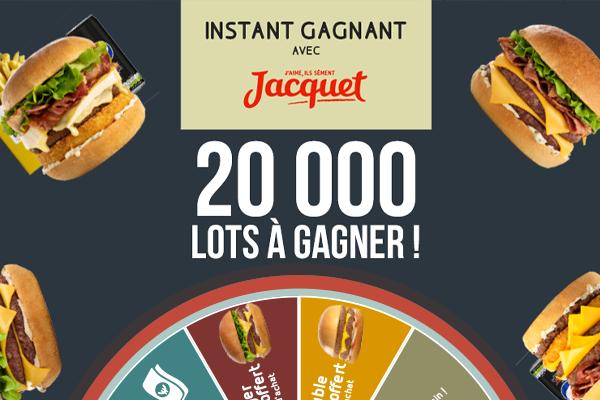REGLEMENT COMPLET Jeu instant gagnant Speed Burger et Jacquet®